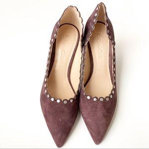Coach studded pointy heels sz 6